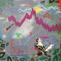 oilcolour and digitalpainting on Alu Dibond, 100 x 100cm